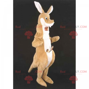 Känguru-Maskottchen mit Tasche - Redbrokoly.com