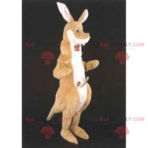 Kænguru maskot med lomme - Redbrokoly.com