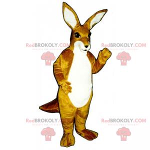 Mascote canguru sorridente - Redbrokoly.com