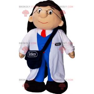 Laboratory assistant mascot - Redbrokoly.com