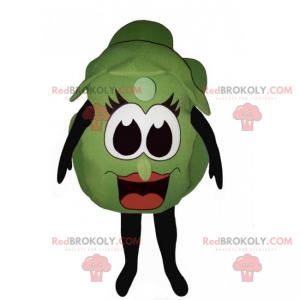 Salatmaskot med smilende ansikt - Redbrokoly.com