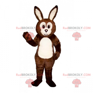 Rabbit mascot with a round face - Redbrokoly.com