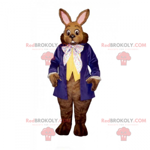 Maskot králíka s kulatými brýlemi - Redbrokoly.com