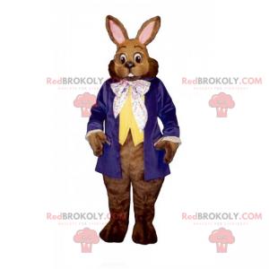 Rabbit mascot with round glasses - Redbrokoly.com