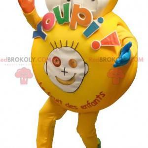 Grote gele mascotte voor een kind - Redbrokoly.com