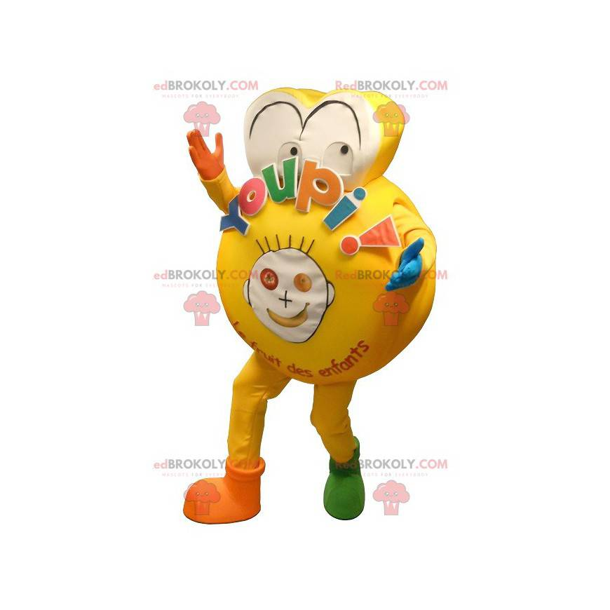 Stor gul maskot for et barn - Redbrokoly.com