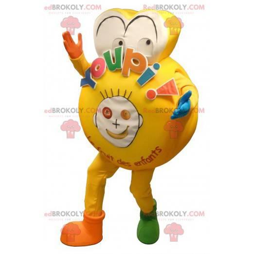 Großes gelbes Maskottchen für ein Kind - Redbrokoly.com