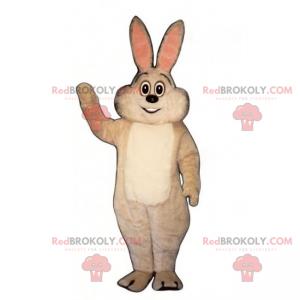 Bílý králík maskot s růžovými ušima - Redbrokoly.com