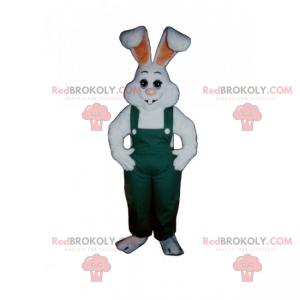 Weiße Kaninchen Maskottchen Overalls - Redbrokoly.com