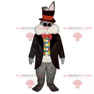 Rabbit mascot dressed as a magician - Redbrokoly.com