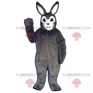 Klassisches graues Kaninchenmaskottchen - Redbrokoly.com