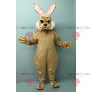 Maskot hnědý králík a bílé tváře - Redbrokoly.com