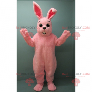 Pink rabbit mascot - Redbrokoly.com