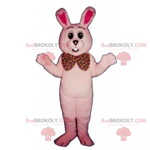 Rosa kaninmaskot og gigantisk sløyfe - Redbrokoly.com