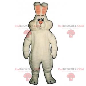 Pink rabbit mascot and pink ears - Redbrokoly.com