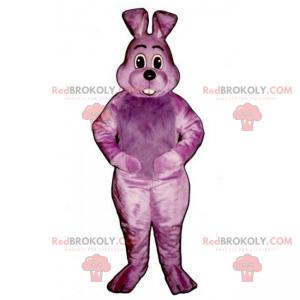 Maskot fialový králík - Redbrokoly.com