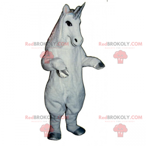 Unicorn maskot sølvben - Redbrokoly.com