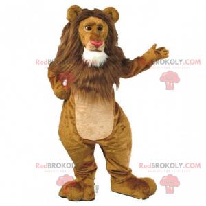Maskotka lew z dużą grzywą - Redbrokoly.com