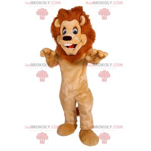 Urocza maskotka lwa z piękną grzywą - Redbrokoly.com