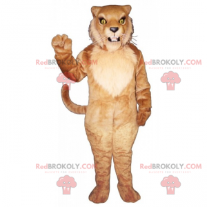 Lion mascot with long mustaches - Redbrokoly.com