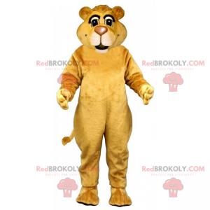 Lion mascot with small ears - Redbrokoly.com