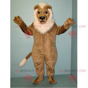Maskot lva s bílou hřívou - Redbrokoly.com