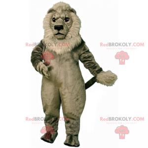 Maskot lva s šedou hřívou - Redbrokoly.com