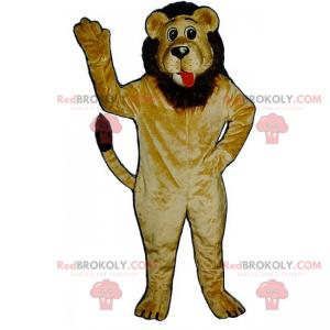 Lion maskot med brun manke - Redbrokoly.com