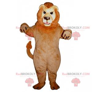 Lion mascot with red mane - Redbrokoly.com