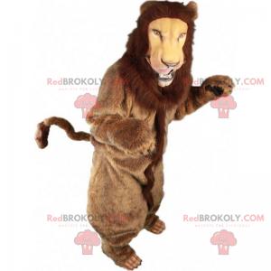 Maskot lva s hedvábnou hřívou - Redbrokoly.com