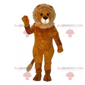 Maskot lva s malou béžovou hřívou - Redbrokoly.com