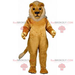 Beige løve maskot med hvit manke - Redbrokoly.com