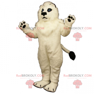 Maskot bílý lev - Redbrokoly.com