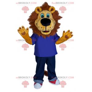 Maskot lva v džínách a teniskách - Redbrokoly.com