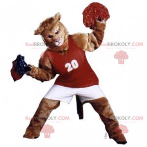 Lion maskot kledd som en pompongjente - Redbrokoly.com