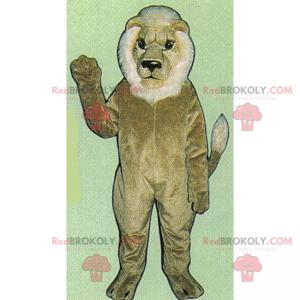 Moudrý lev maskot - Redbrokoly.com