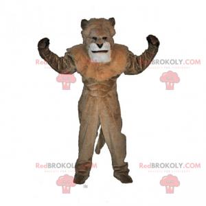 Löwenmaskottchen ohne Mähne - Redbrokoly.com
