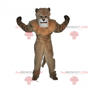 Lion mascot without mane - Redbrokoly.com