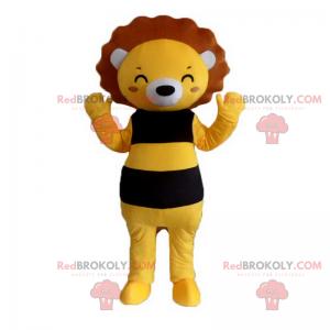 Smiling lion mascot - Redbrokoly.com