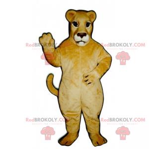 Löwin Maskottchen mit brauner Schnauze - Redbrokoly.com