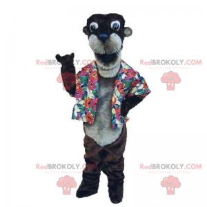 Mascota de nutria con camisa - Redbrokoly.com