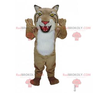 Luchsmaskottchen mit großem Kopf - Redbrokoly.com