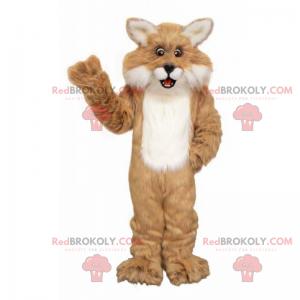 Hnědý a bílý maskot Lynx - Redbrokoly.com