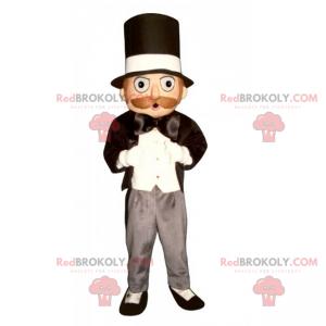 Magiker maskot med topp lue - Redbrokoly.com