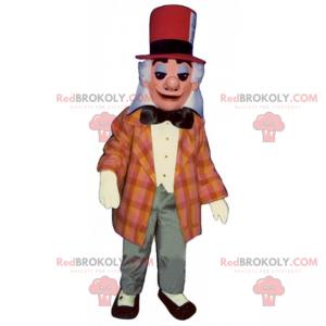 Maskot kouzelník s červeným kloboukem - Redbrokoly.com