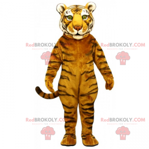 Majestátní tygr maskot se zelenýma očima - Redbrokoly.com