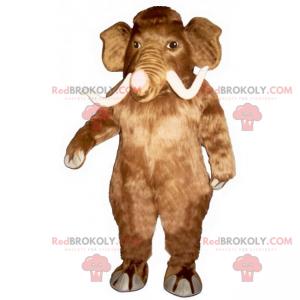 Maskot hnědý mamut a bílé kly - Redbrokoly.com