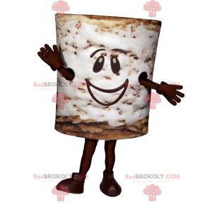 Marshmallow-mascotte met een lachend gezicht - Redbrokoly.com