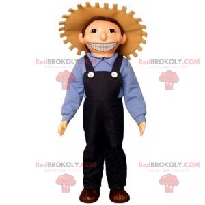 Profese maskot - farmář s kloboukem - Redbrokoly.com
