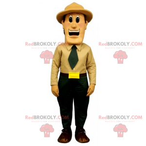Professionele mascotte - boswachter - Redbrokoly.com